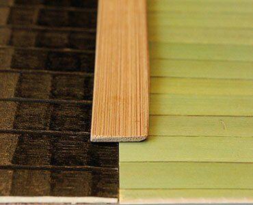 Стык бамбукового полотна